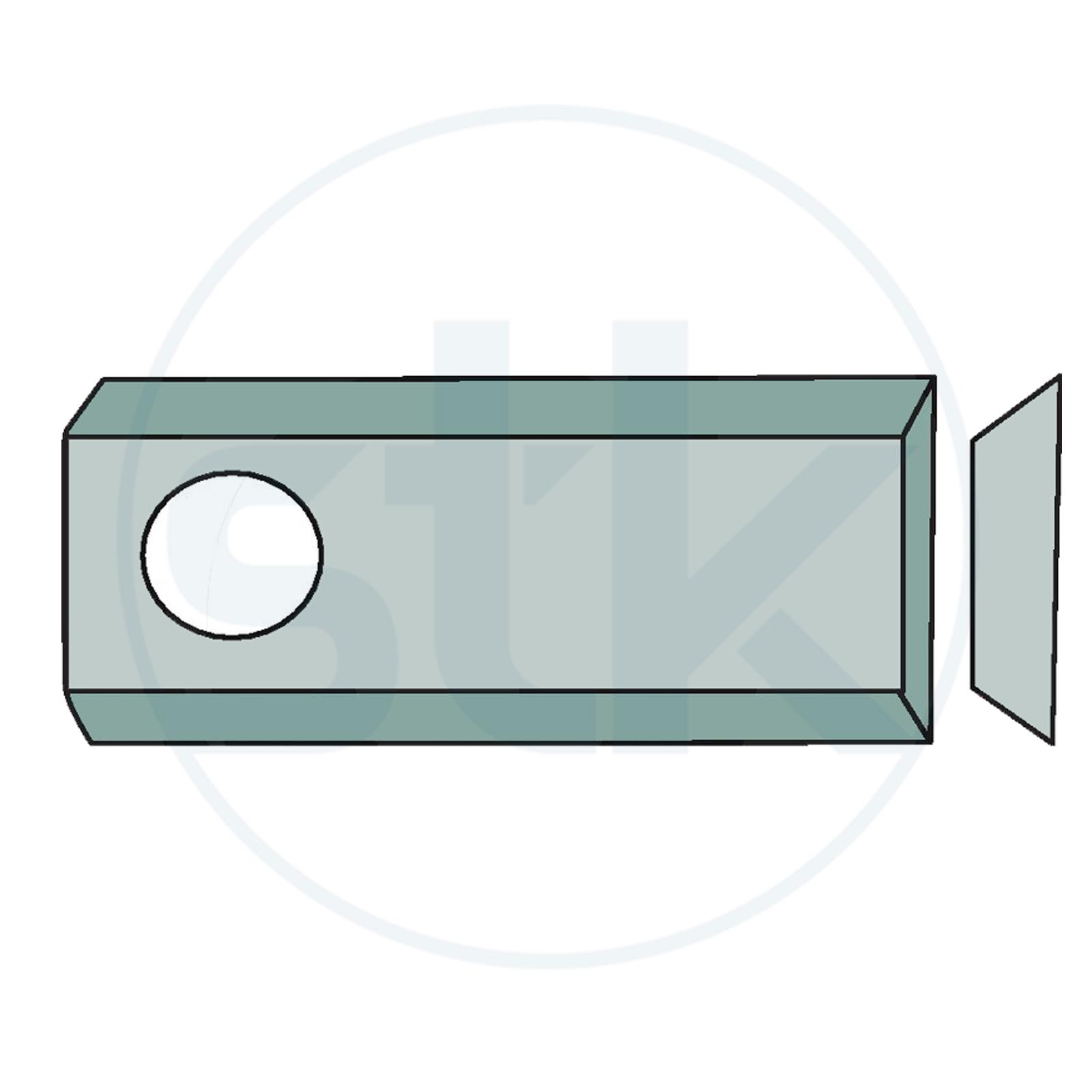 Granit Klinken Mähmesser Deutz Fahr Kreiselmäher Kreiselmähwerk 96x40x3