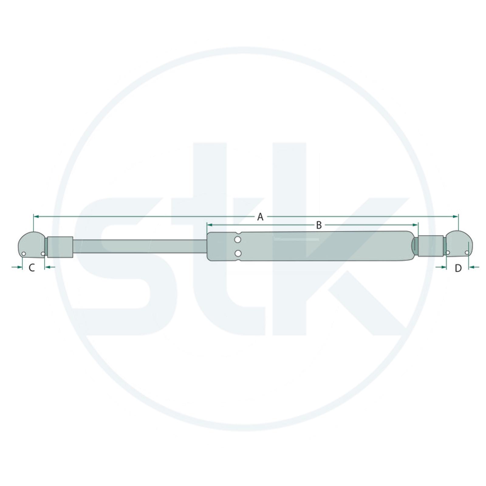Gasdruckfeder Tür passend für Deutz ersetzt Vergleichsnummer 04429617 Gasfeder