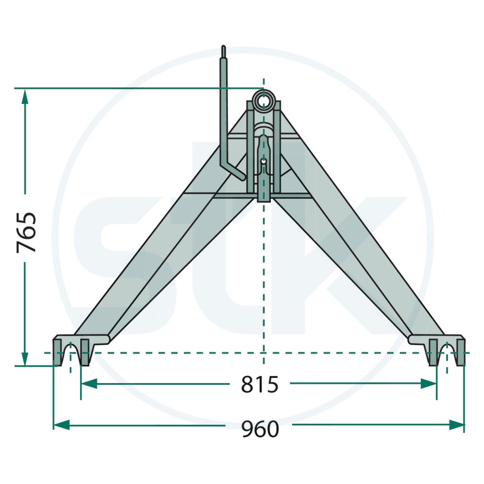 GRANIT Schlepperdreieck für Fronthydraulik  Kat 2 1400 kg Gerätedreieck