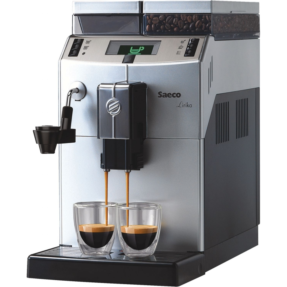 Saceo Lirika Kaffee Vollautomat Kaffeemaschine Kaffeeautomat Silber