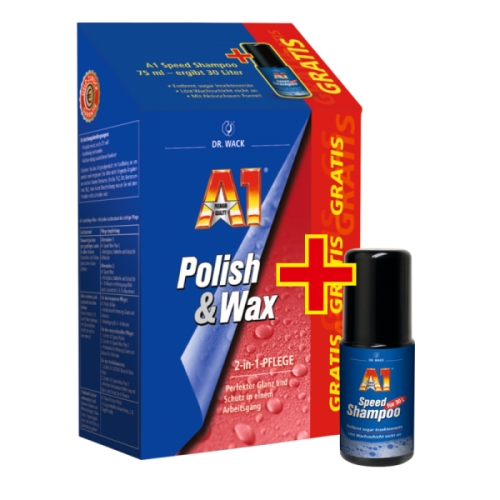 a1 polish wax 500ml gratis 75ml a1 speed shampoo von. Black Bedroom Furniture Sets. Home Design Ideas